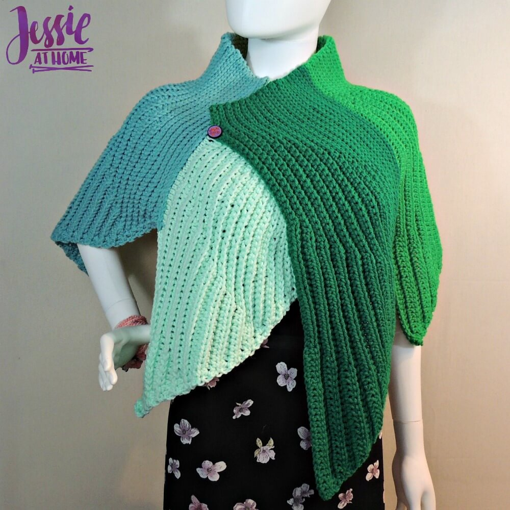 Fins Wrap free crochet pattern by Jessie At Home - 1