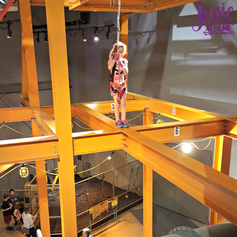 Kyla Walks the I-beam