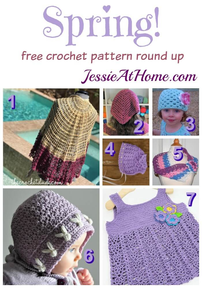 Spring - free crochet pattern round up from Jessie At Home