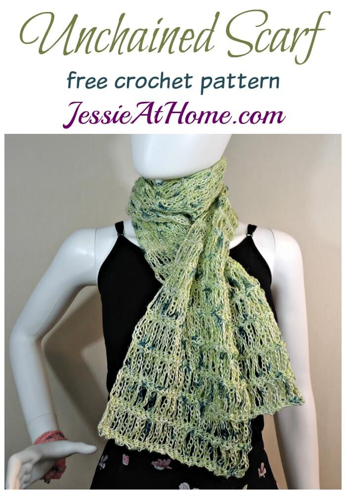 Unchained Scarf - free crochet pattern by Jessie At Home