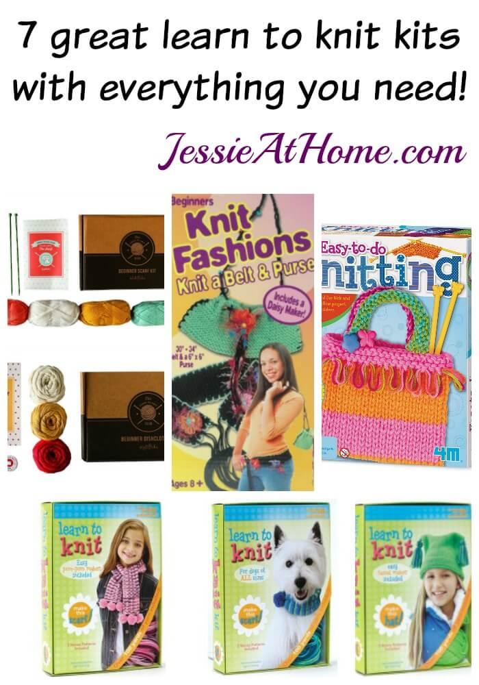 7 great learn to knit kits compiled by Jessie At Home