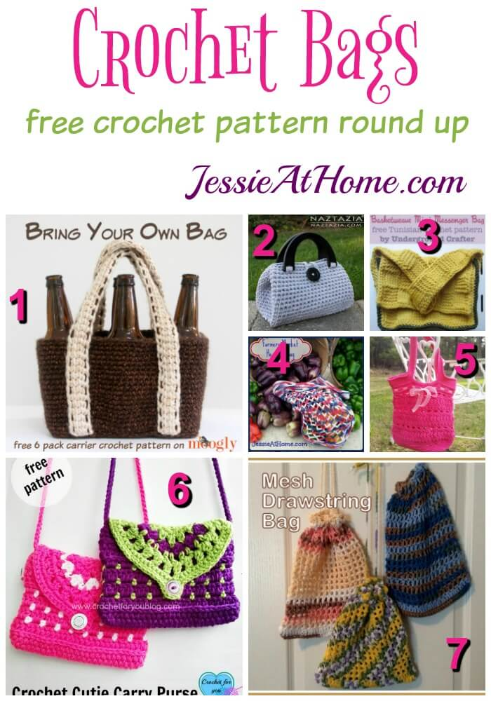 Crochet Bags free crochet pattern round up from Jessie At Home