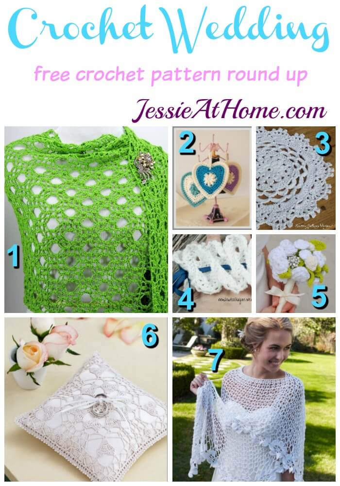 Crochet Wedding free crochet pattern round up from Jessie At Home