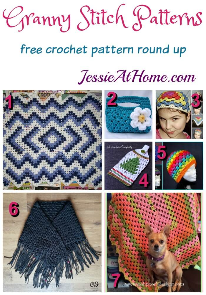 Granny Stitch Patterns free crochet pattern round up from Jessie At Home