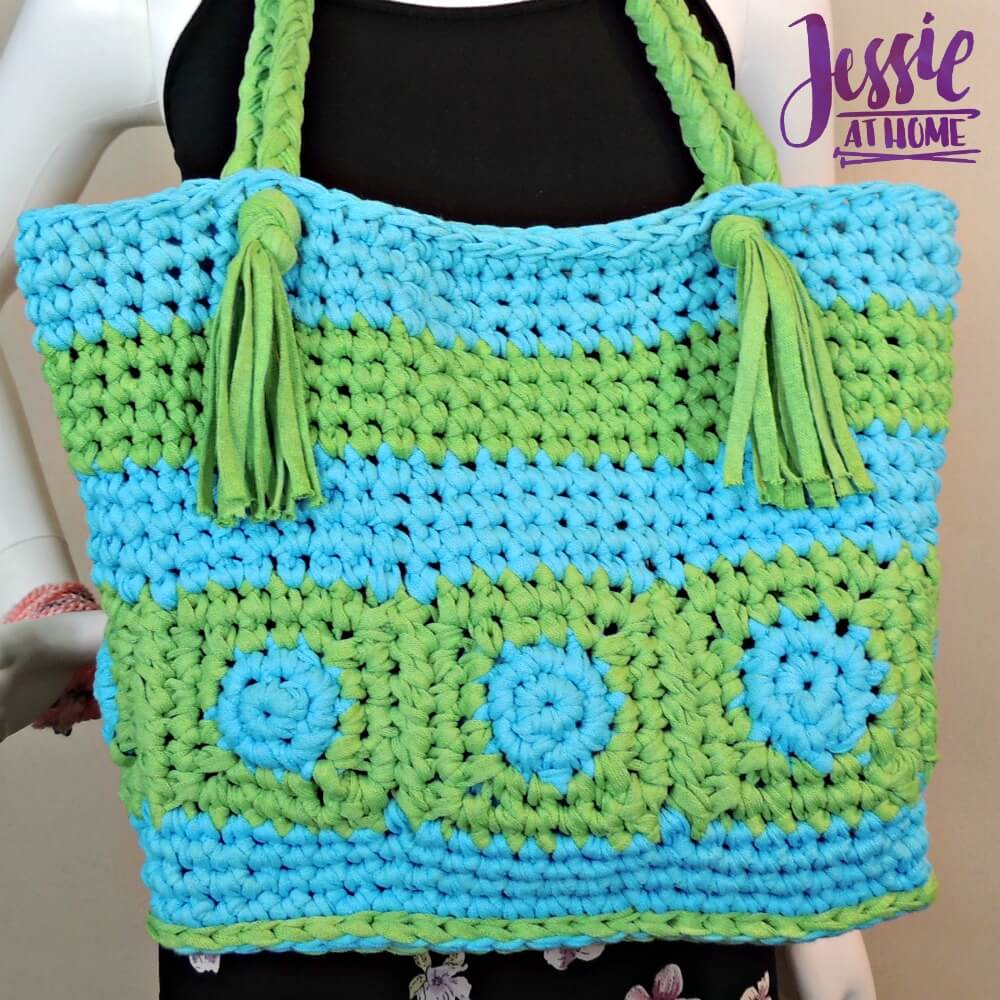 Hoooked Tote free crochet pattern by Jessie At Home - 3