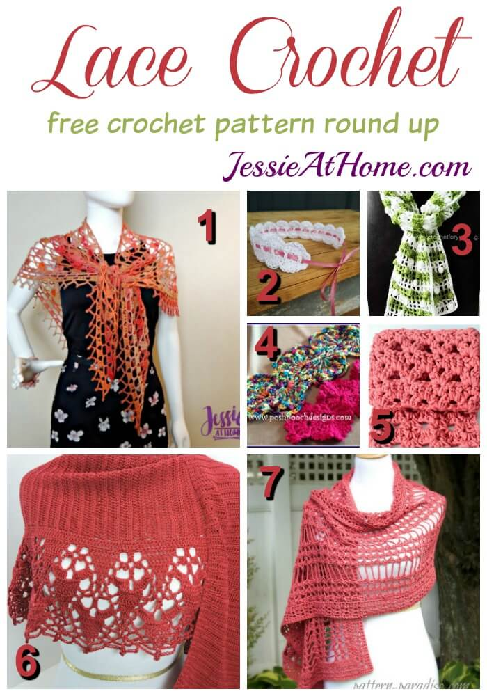 Lace Crochet free crochet pattern round up from Jessie At Home