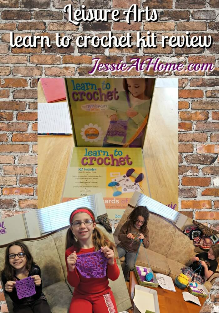 Leisure Arts Learn to Crochet Kit review from Jessie At Home