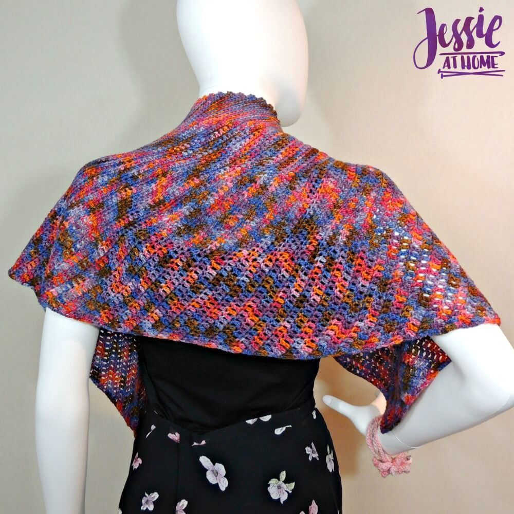 Lisa Wrap free crochet pattern by Jessie At Home - 3