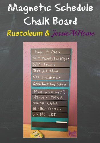 Magnetic Schedule Chalk Board from Jessie At Home