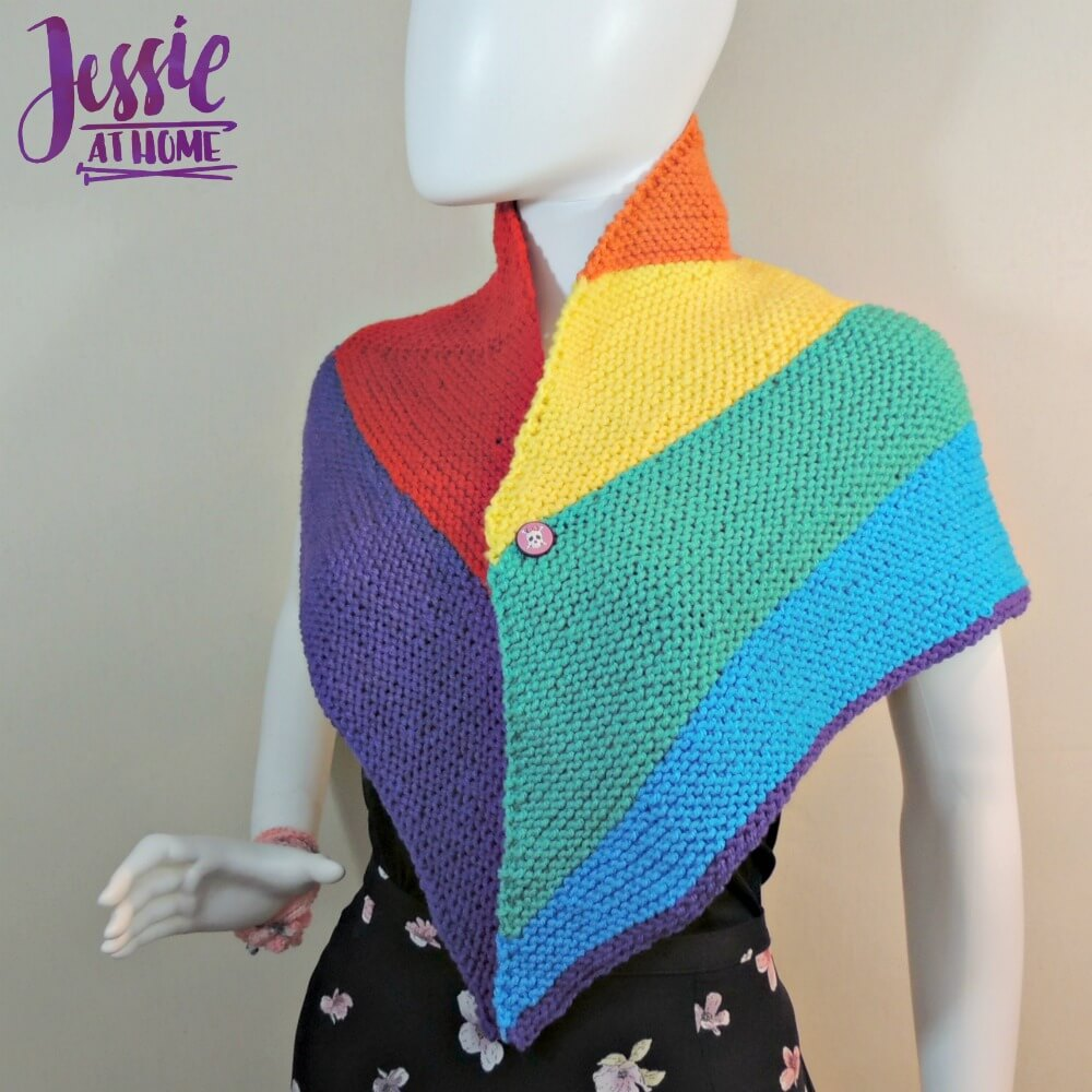 Shifting Rainbow - free knit pattern by Jessie At Home - 1