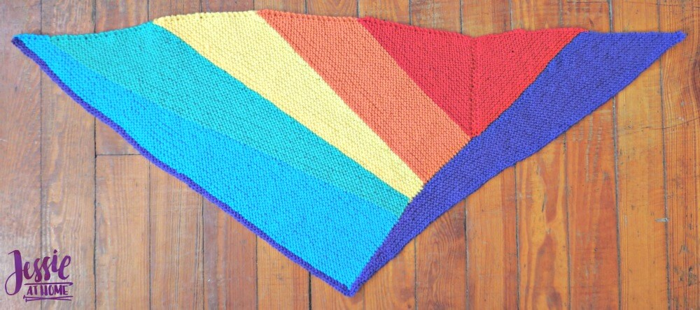 Shifting Rainbow - free knit pattern by Jessie At Home - 3
