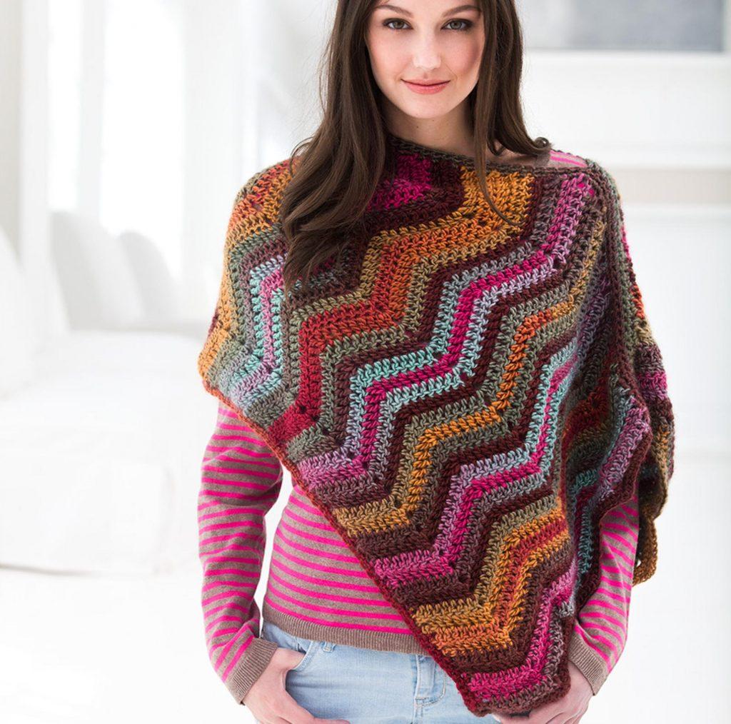 Sunset Poncho Craftsy Crochet Kit