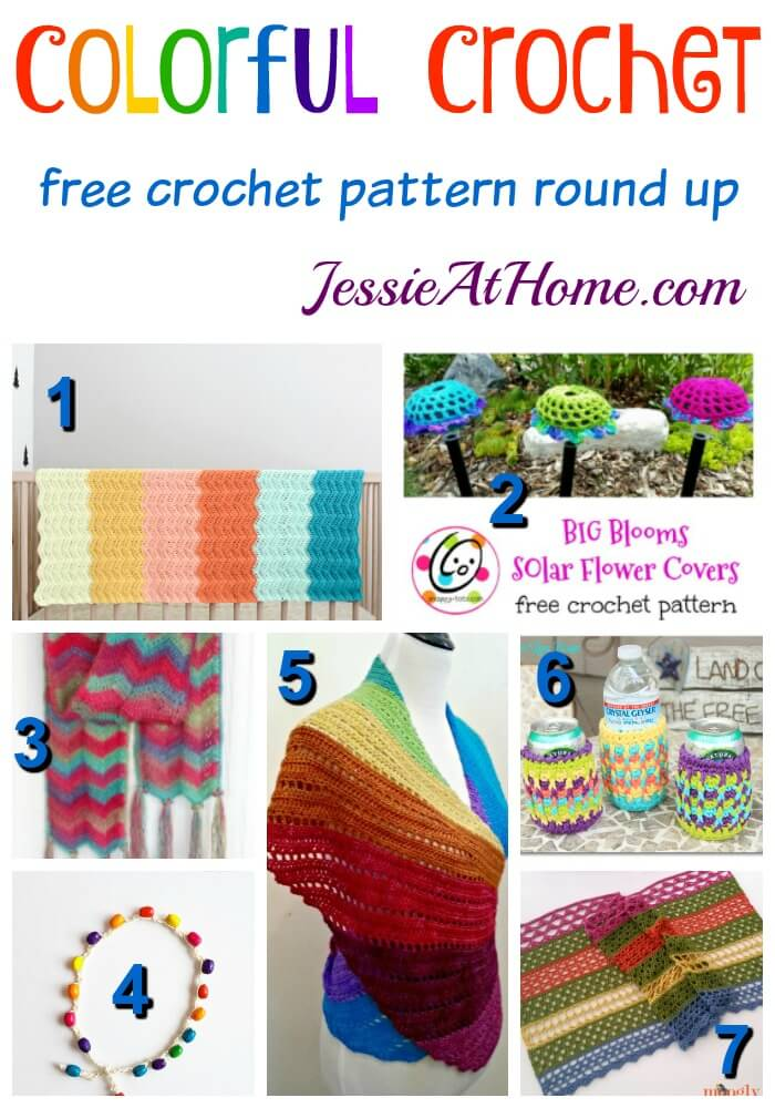 Colorful Crochet free crochet pattern round up from Jessie At Home