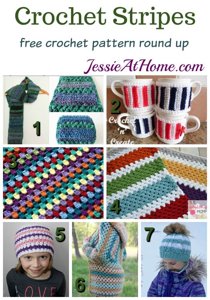 Crochet Stripes free crochet pattern round up from Jessie At Home