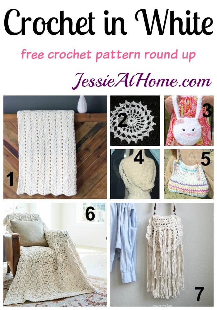 Crochet in White free crochet pattern round up from Jessie At Home