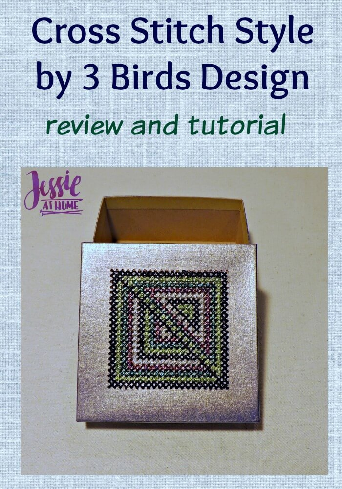 Cross Stitch Style by 3 Birds Design review and tutorial from Jessie At Home