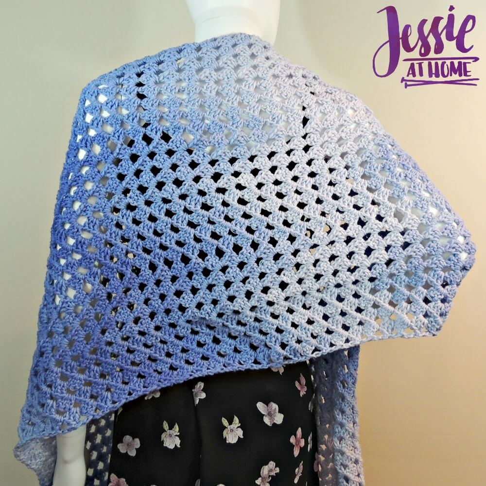 Granny Ripple Wrap free crochet pattern by Jessie At Home - 2
