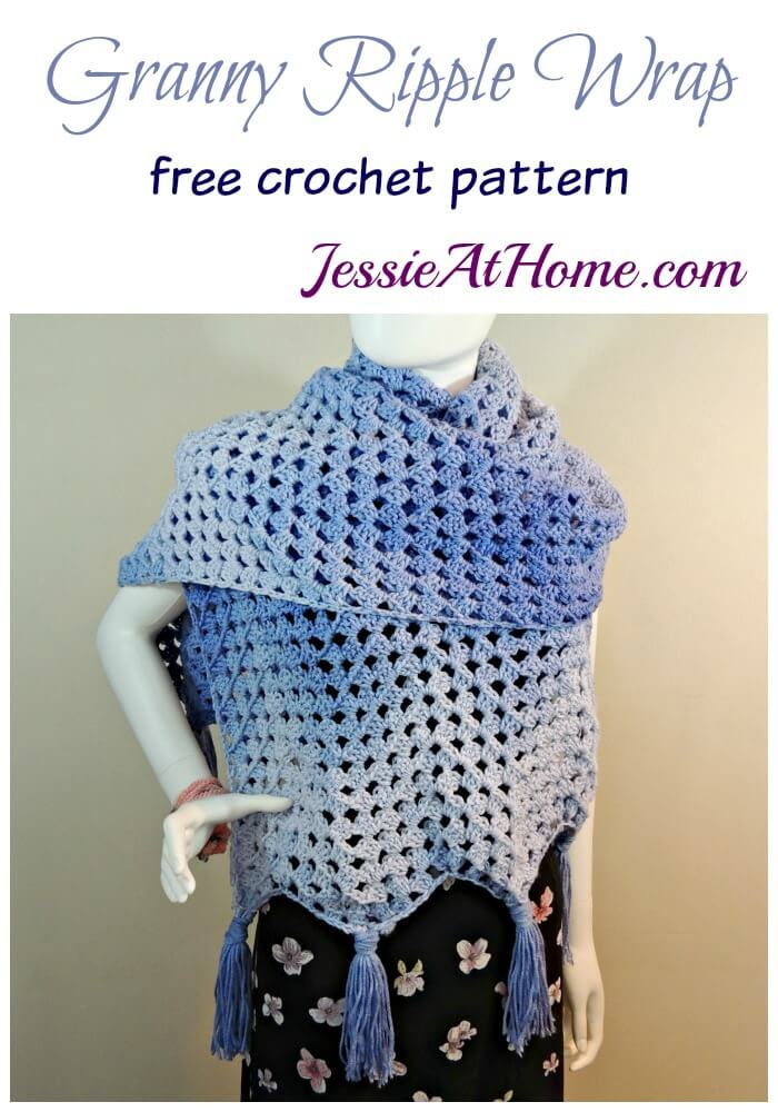 Granny Ripple Wrap free crochet pattern by Jessie At Home