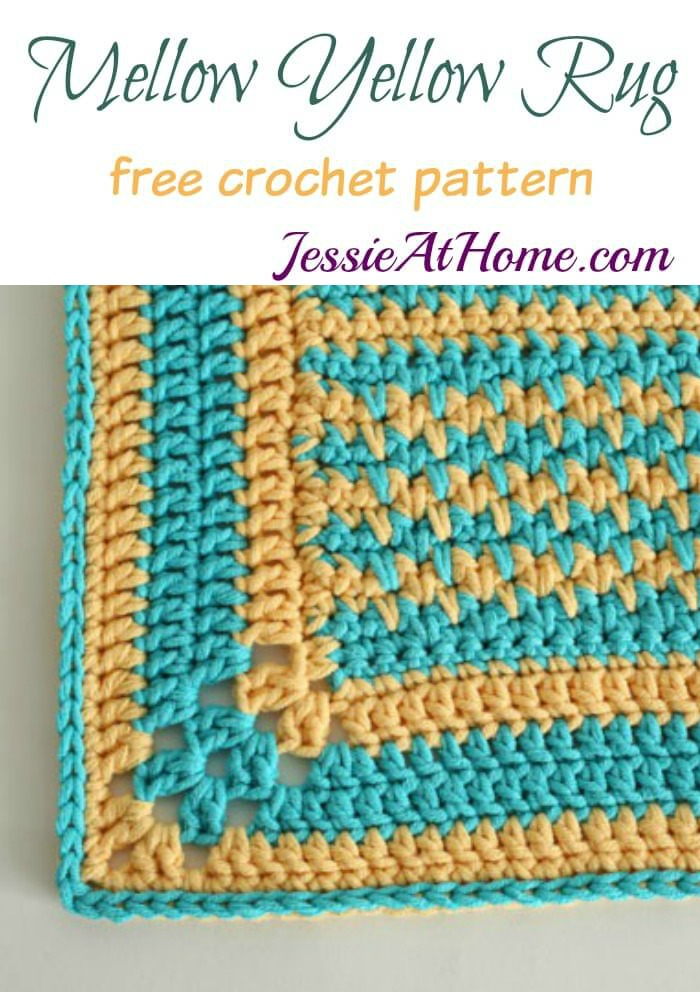 Mellow Yellow Rug free crochet pattern by Jessie At Home