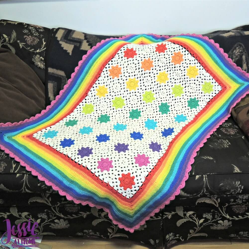 Rainbow Droplets Babyghan free crochet pattern by Jessie At Home - 1
