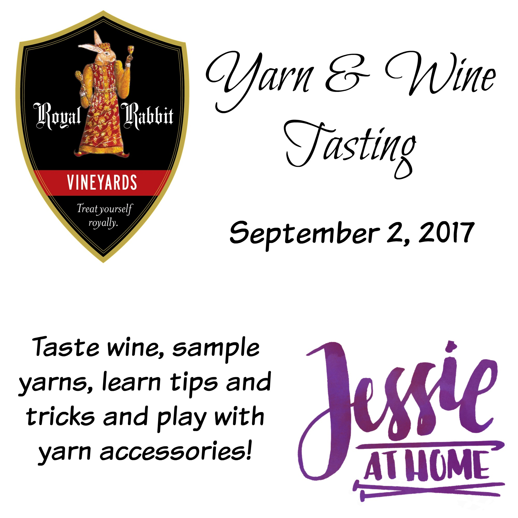 Yarn and Wine Tasting 2017