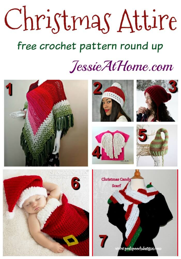 Christmas Attire free crochet pattern round up from Jessie At Home