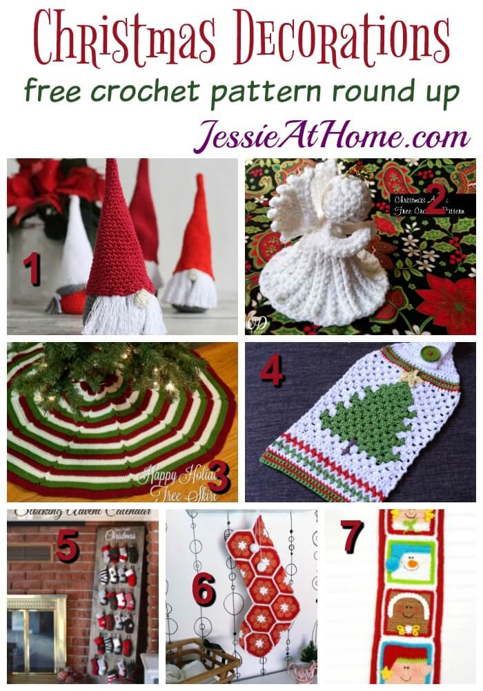 Christmas Decorations free crochet pattern round up from Jessie At Home