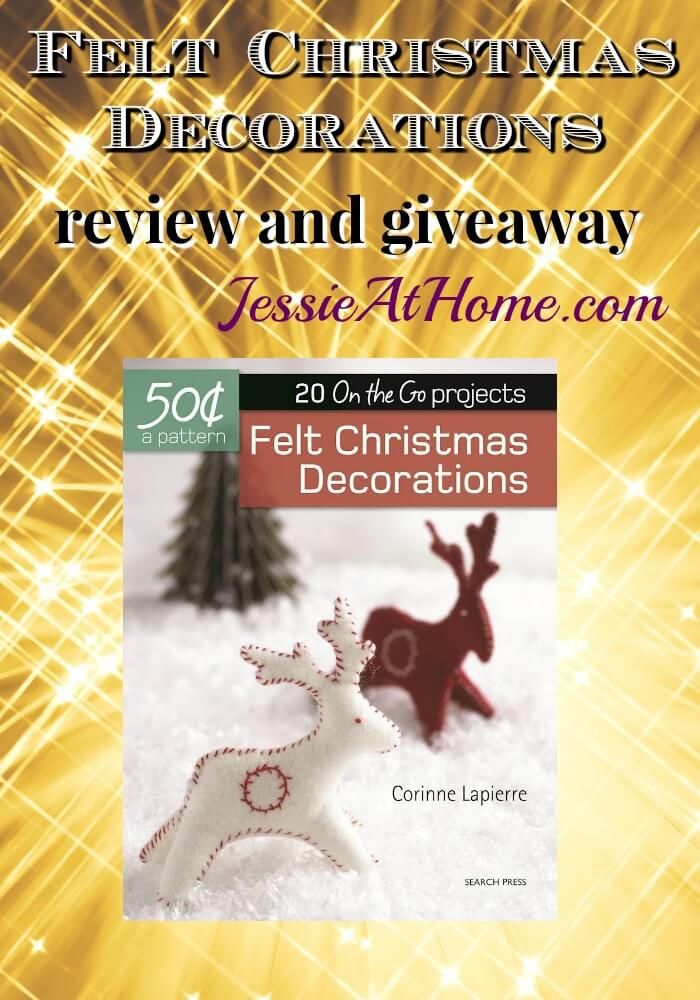 Felt Christmas Decorations review and giveaway