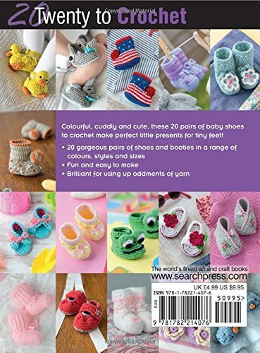 20 Crochet Baby Shoes - back
