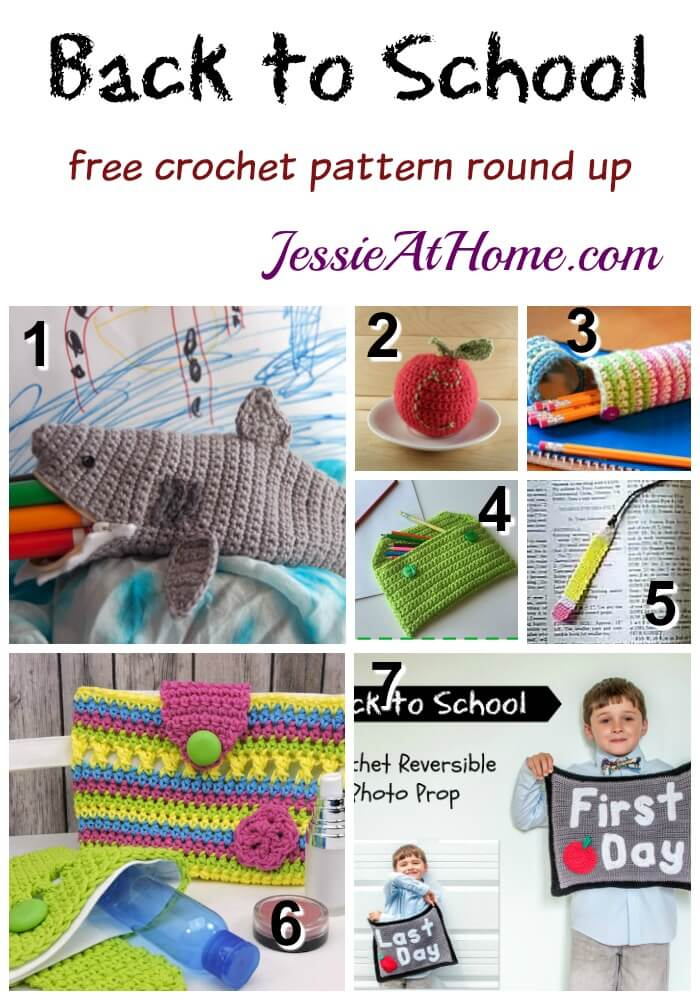 Back to School free crochet pattern round up from Jessie At Home