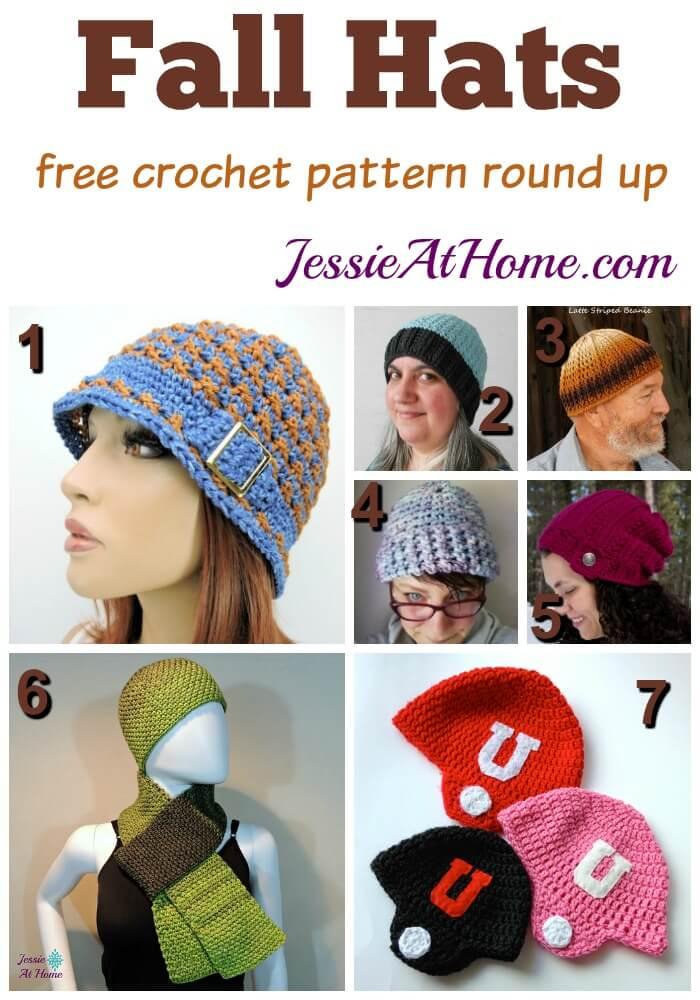 Fall Hats free crochet pattern round up