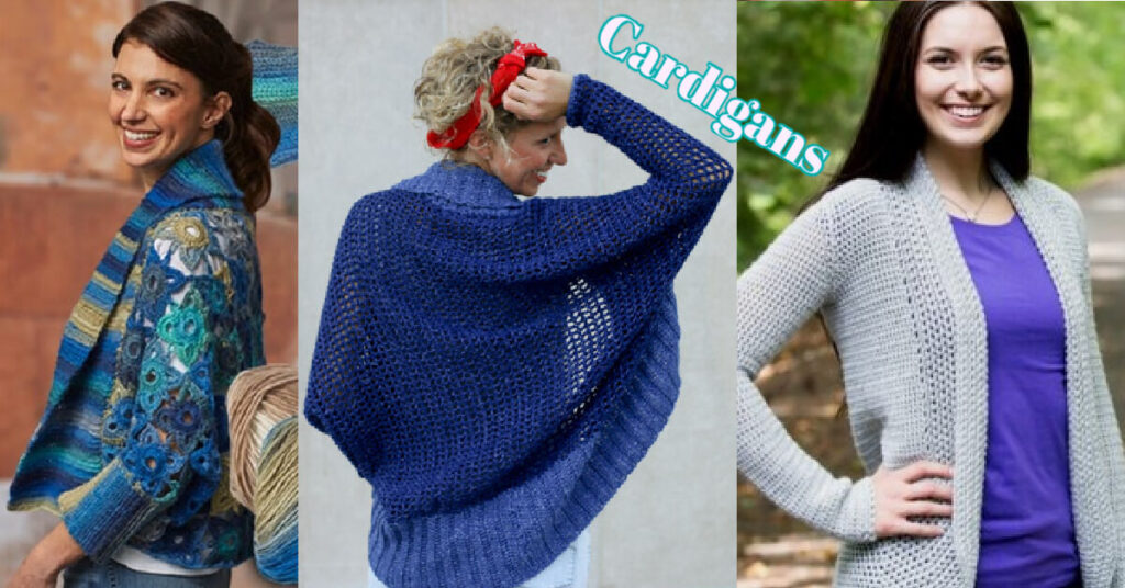 Cardigans to Crochet - free crochet pattern round up from Jessie At Home