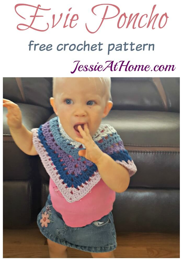 Evie Poncho free crochet pattern by Jessie At Home
