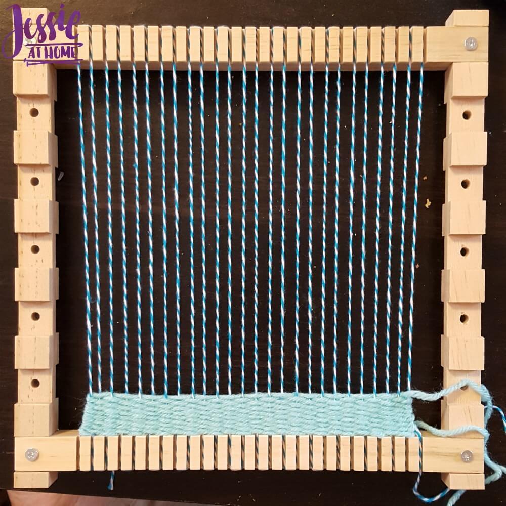 Plaid Loom beginning