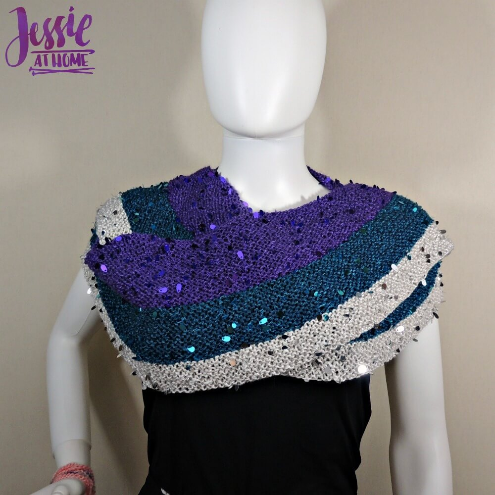 Swanky Wraplette free crochet pattern by Jessie At Home - 2