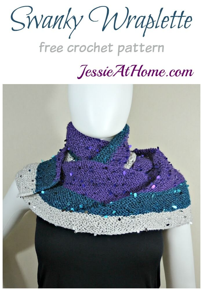 Swanky Wraplette free crochet pattern by Jessie At Home