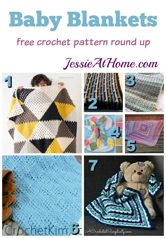 Baby Blankets - free crochet pattern round up from Jessie At Home