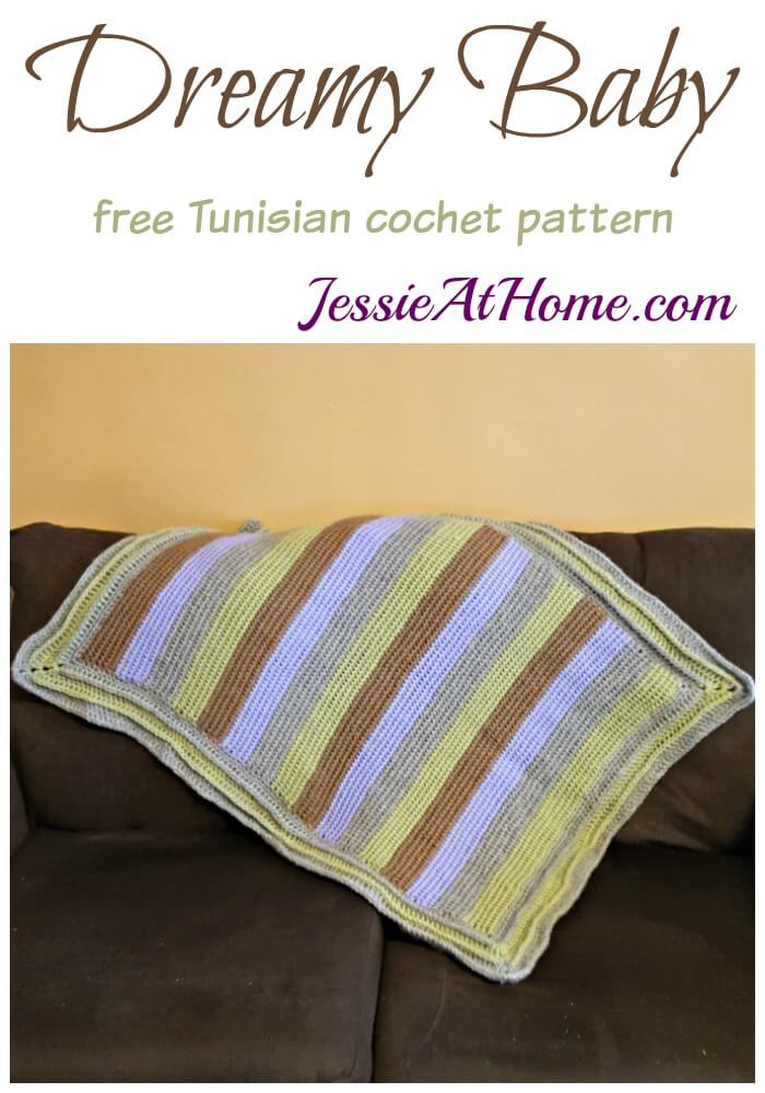 Dreamy Baby - free Tunisian crochet pattern by Jessie At Home