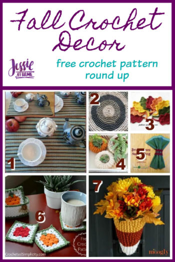 Fall Crochet Decor free crochet pattern round up from Jessie At Home - Pin 1