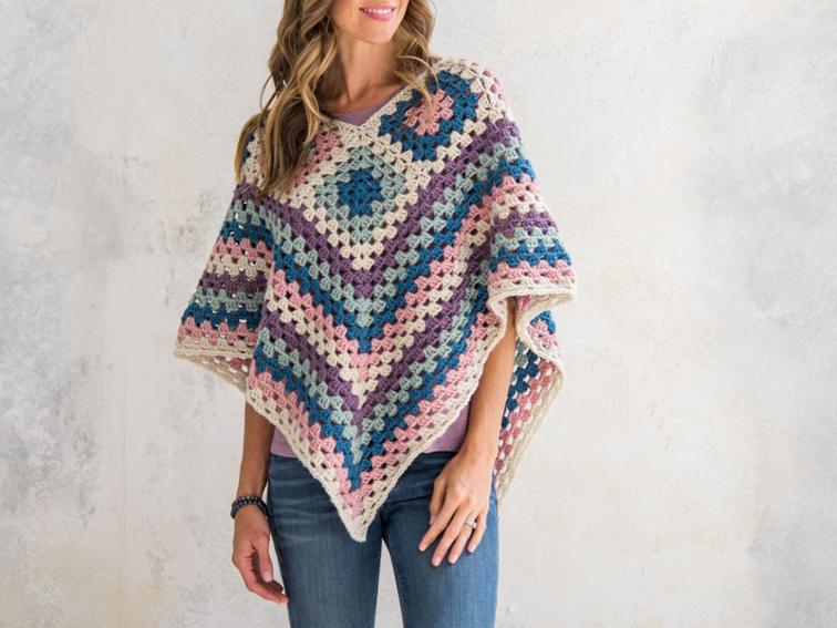 Granny Border Poncho Craftsy Crochet Kit