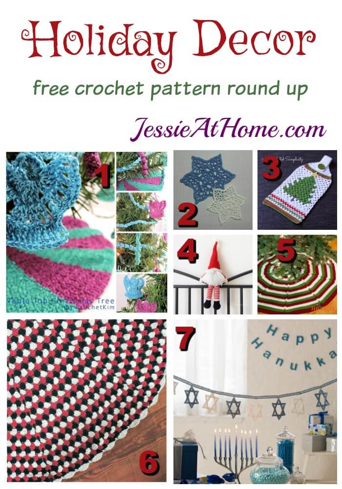 Holiday Decor free crochet pattern round up from Jessie At Home