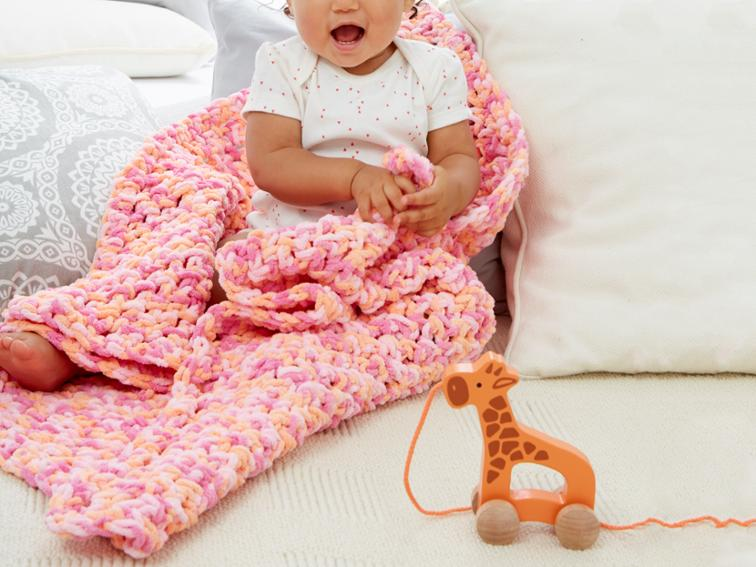 In a Wink Simple Baby Blanket Craftsy Crochet Kit