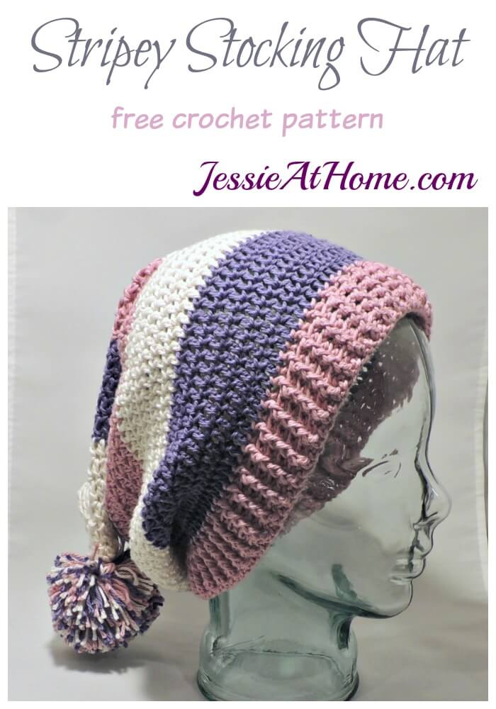 Stripey Stocking Hat - free crochet pattern by Jessie At Home