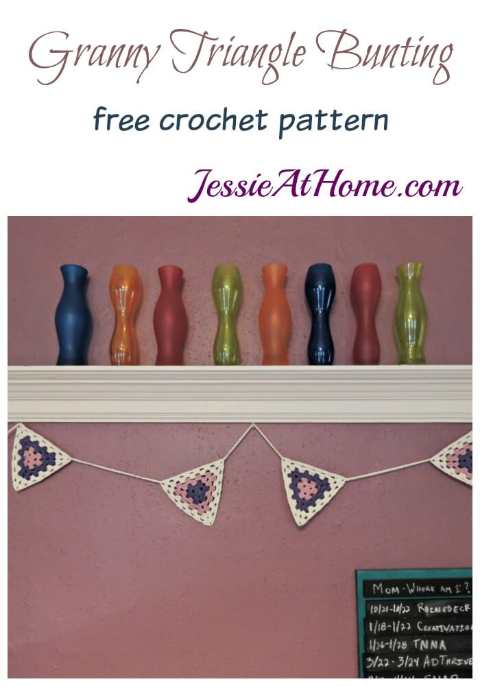 Granny Triangle Bunting free crochet pattern by Jessie At Home