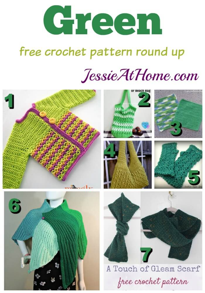 Green free crochet pattern round up from Jessie At Home