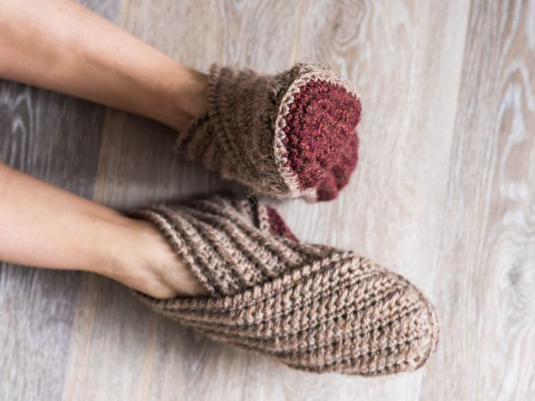 Rustic Wrap Slippers Craftsy Crochet Kit