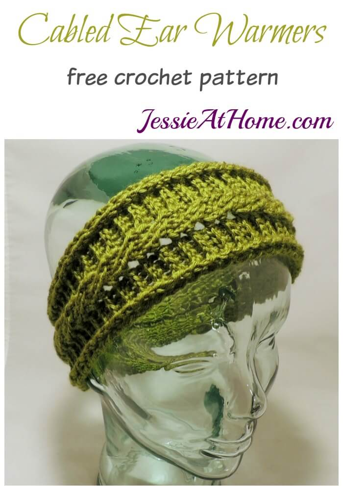 Cabled Ear Warmers - free crochet pattern by Jessie At Home