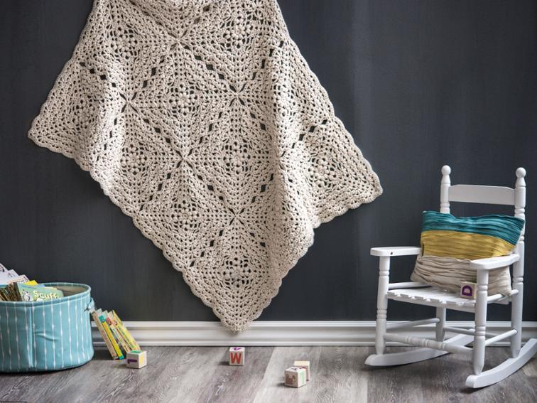 Flower Petal Blanket Craftsy Crochet Kit