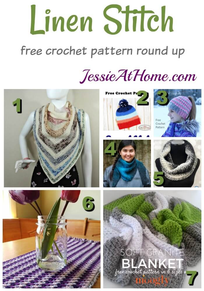 Linen Stitch free crochet pattern round up from Jessie At Home