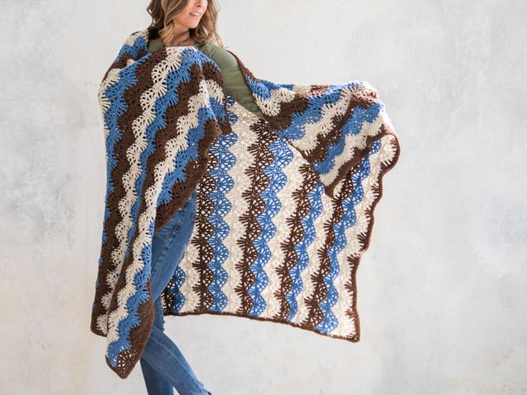 Ripple Lace Afghan Craftsy Crochet Kit